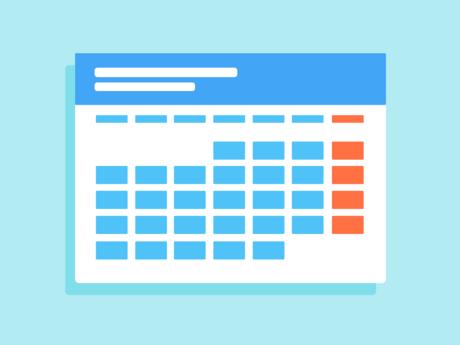 Zu sehen ist eine Illustration eines Kalenders